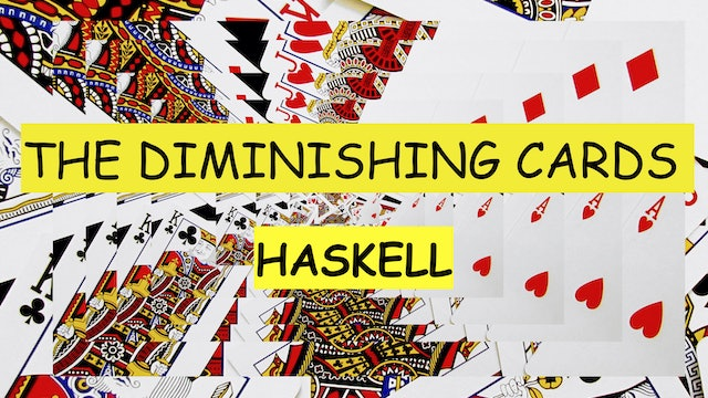 2 HASKELL'S DIMINISHING CARDS