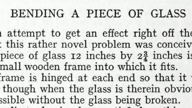 HOW TO BEND GLASS