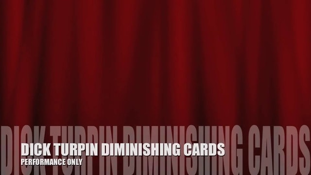 89 C2P GAFFS AND SET UPS TURPIN DIMINISHING CARDS PERFORMANCE