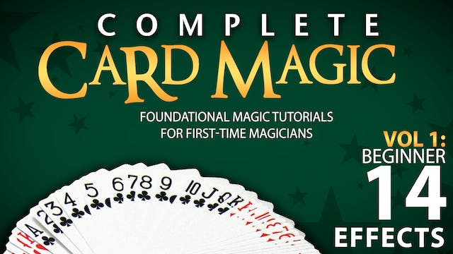 Complete Card Magic Volume 1: Beginner Full Volume - Download