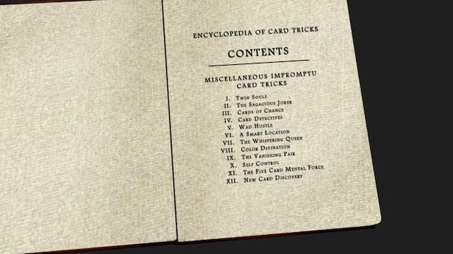 Encyclopedia Chapter 1: Misc. Impromptu Card Tricks Instant Download