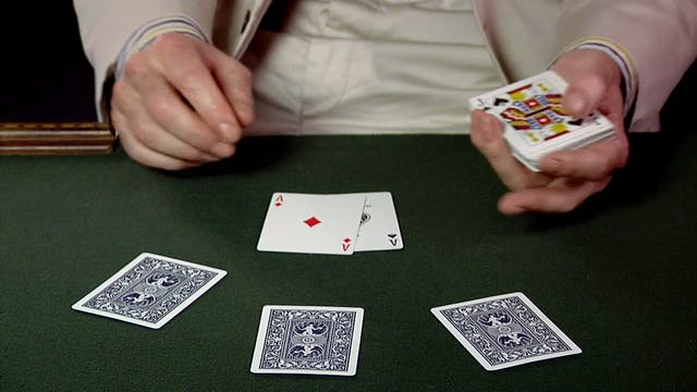 Overhand Stack for Two Card
