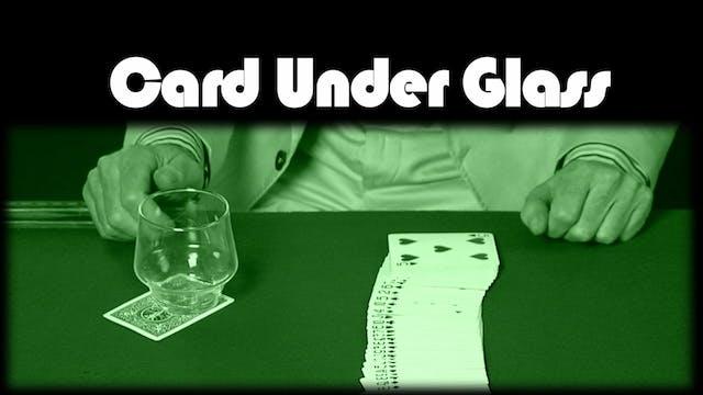 Card Under Glass