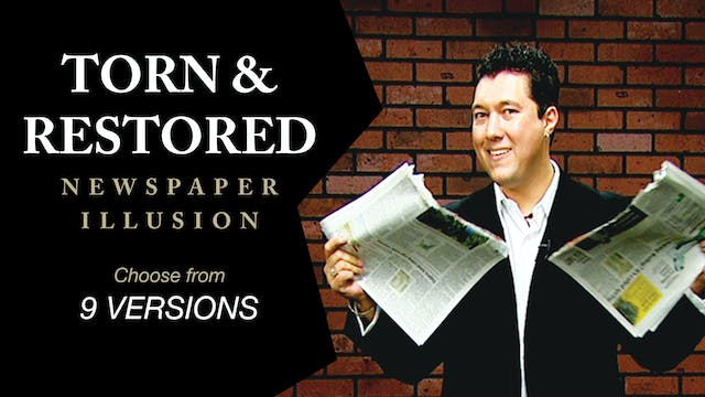 Torn & Restored Newspaper Instant Download
