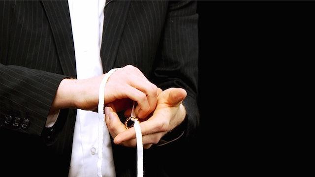 Finger Ring Off Shoelace