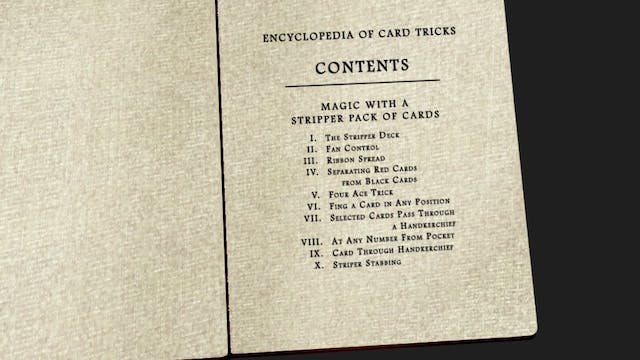 Encyclopedia Chapter 9: Magic with a Stripper Pack of Cards Instant Download