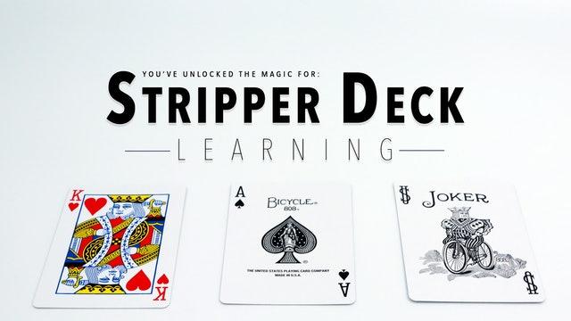 Stripper Deck - The Complete Course on MasterMagicTricks.com