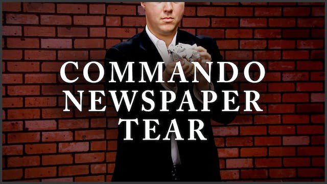 Commando Newspaper Tear