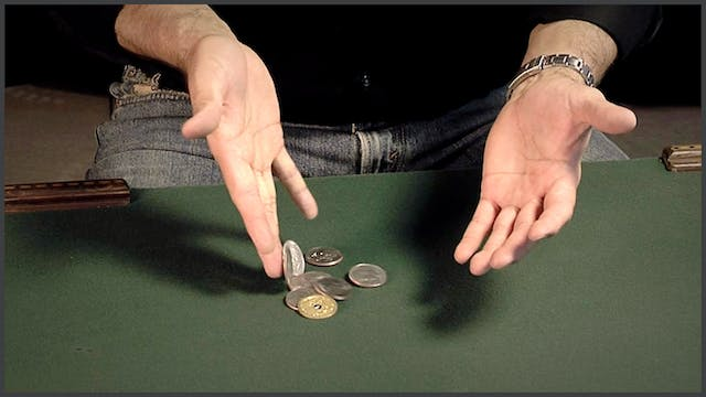 Coins Thru the Table
