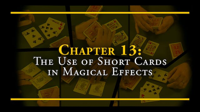 Chapter 13 - The Use of Short Cards i...