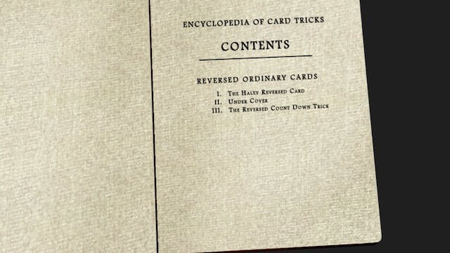 Encyclopedia Chapter 7: Reversed Ordinary Cards Instant Download