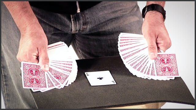 Double Fan on Table