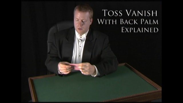 Vanishing a Card Using Back Palm