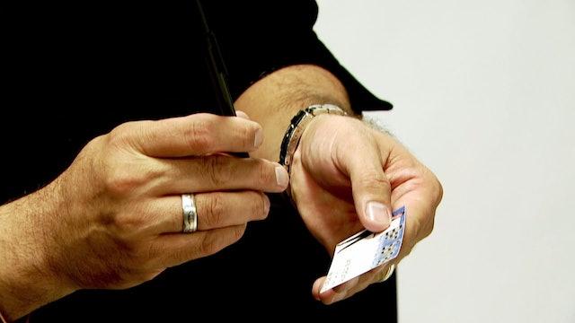 Pen Thru Business Card