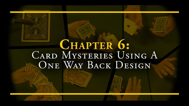 Chapter 6 - Card Mysteries Using a On...