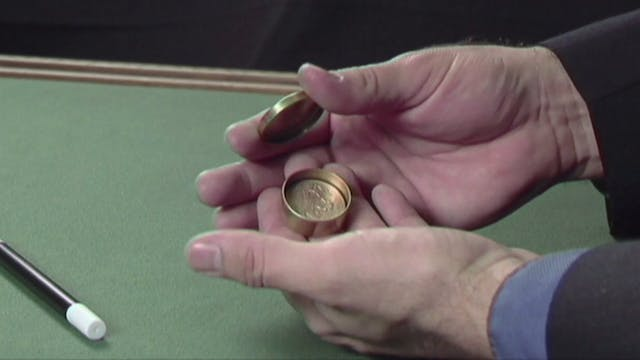 Coin Through Box and Hand