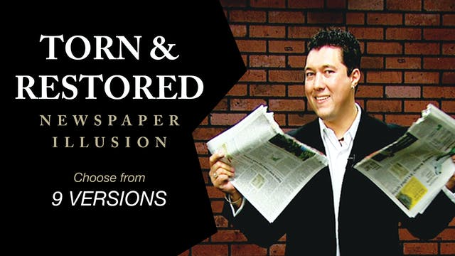 Torn & Restored Newspaper Illusion Complete Series