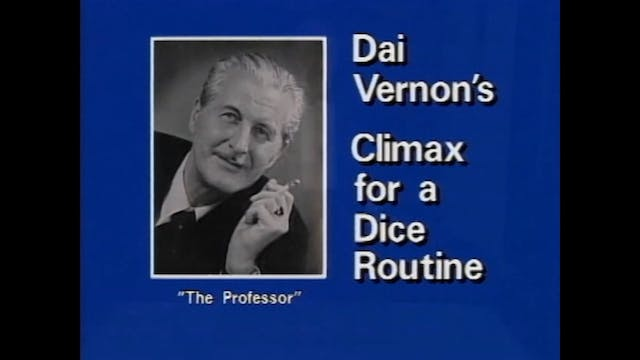 Dai Vernon's Climax for Dice Explanation