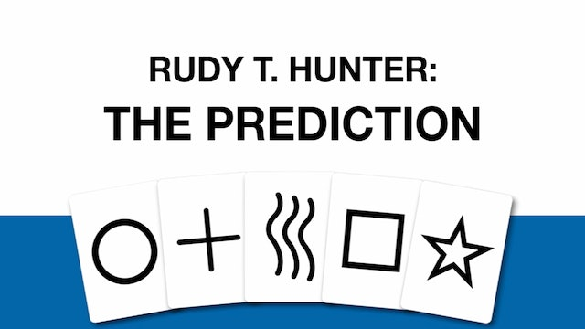 Rudy T. Hunter The Prediction