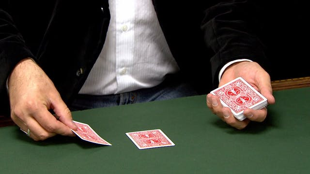 Flipping a Card onto the Deck