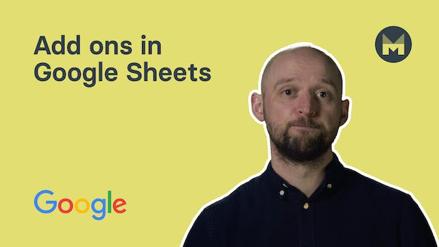 10. Add ons in Google Sheets