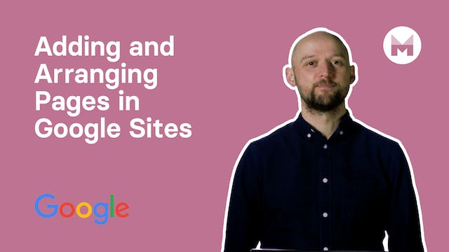 3. Adding and Arranging Pages in Google Sites