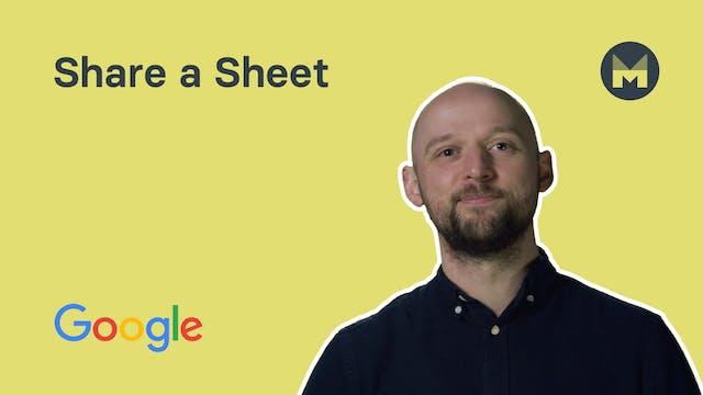 4. Share a Sheet