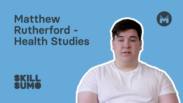 Matthew Rutherford - Health Studies