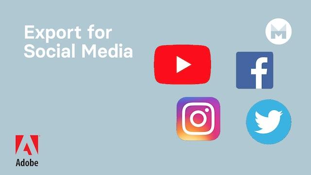 Export for Social Media