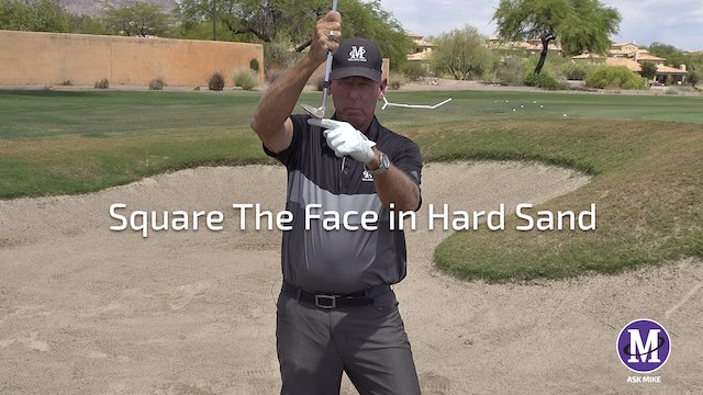 SQUARE YOUR FACE IN HARD SAND