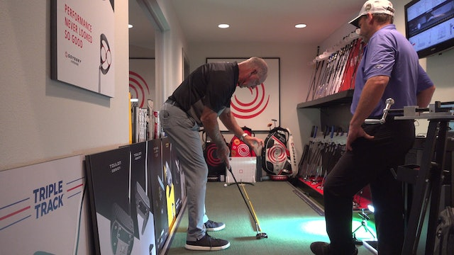EXAMINING TARGET LINES WHEN CLUB FITTING