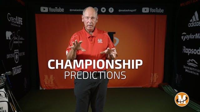 CHAMPIONSHIP TOURNAMENT - PREDICTIONS