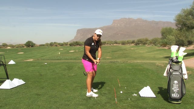 HANDLE DOWN, CLUBHEAD OUT