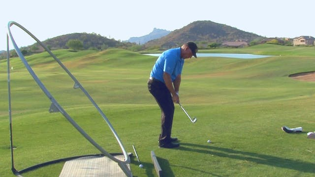 WEDGES AND HANDLE DOWN, CLUBFACE OUT