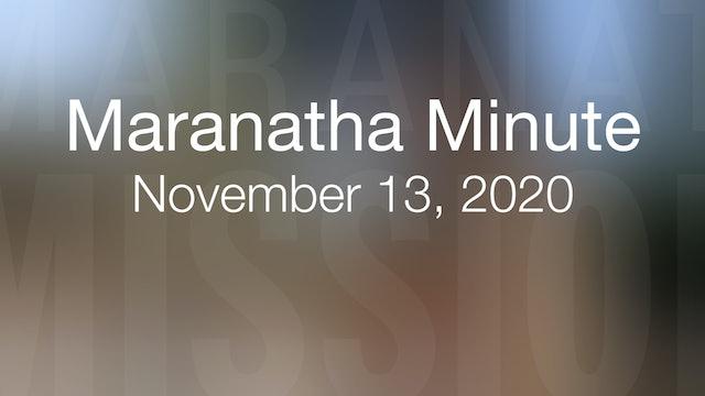 Maranatha Minute: November 13, 2020