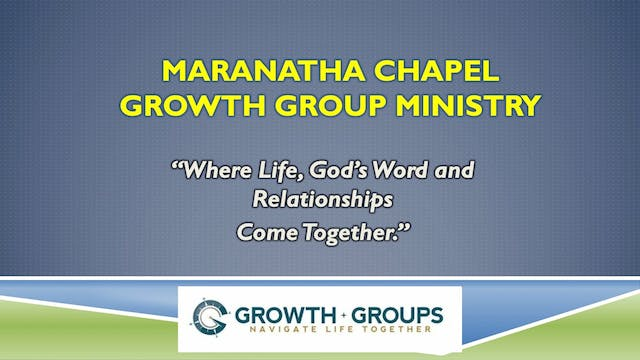 Growth Group Leader Meeting / May 20,...