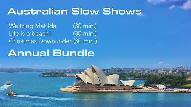 Australian Slow Shows Annual Bundle only 29.99.