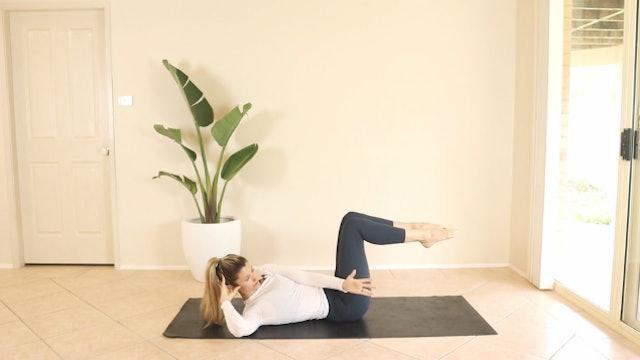 12 Minute Pilates Flow Abs, Back, Legs, Abs Again