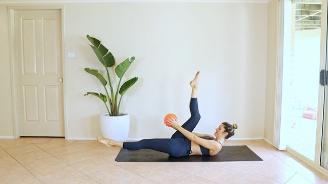 18 Minute Full Body Pilates With a Ball