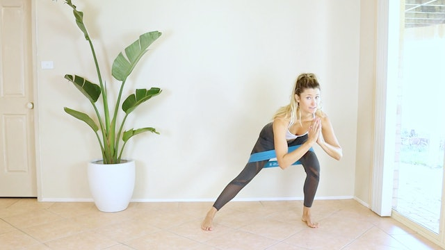 9 Minute Standing Booty Band Work