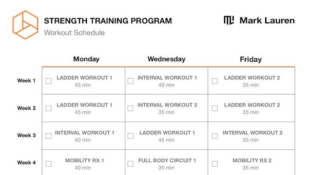 12 Week Schedule