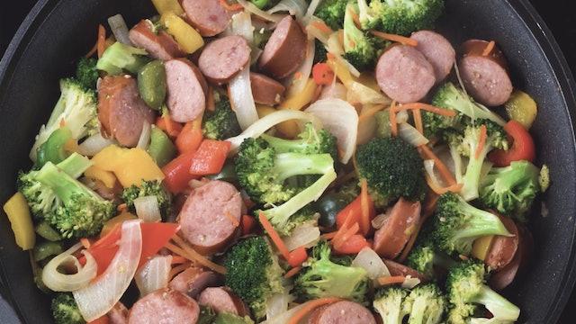 Try me! Chicken Sausage Stir Fry