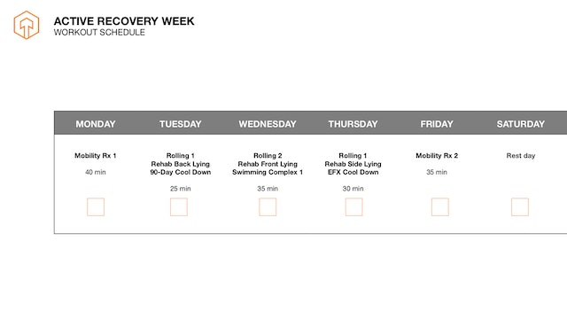 Active Recovery Schedule