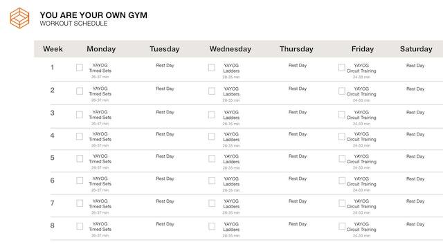 YAYOG- Schedule