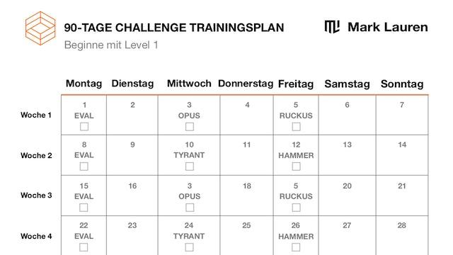 90-Tage Trainingsplan (DE)