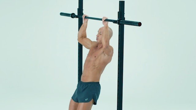 Superset: Negative Pull Up with Single Arm Cuff