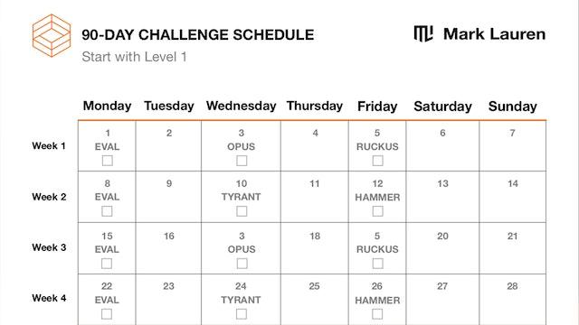 90-Day Schedule