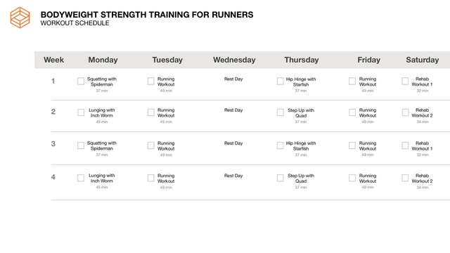 Running- Schedule