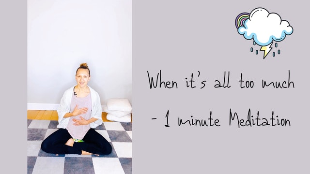 When it's all too much - 1 Minute Meditation