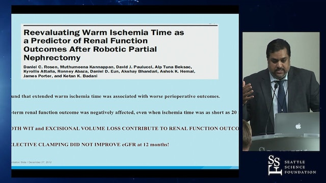 Reducing Warm Ischemia Time During Robotic Partial Nephrectomy